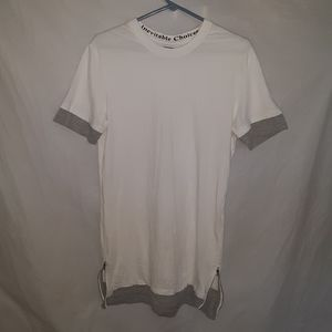 Zara Man Double-Layer Small T-Shirt With Zips